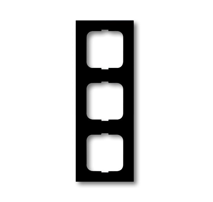 ABB Busch-Jaeger afdekraam hoekig 3-voudig - future linear zwart mat (1723-885K)