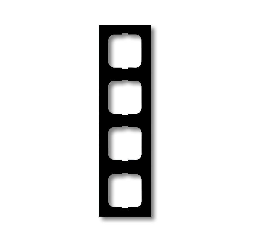 ABB Busch-Jaeger afdekraam hoekig 4-voudig - future linear zwart mat (1724-885K)