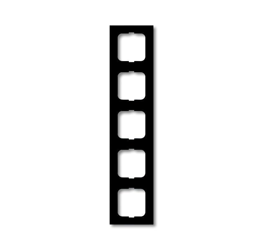 ABB Busch-Jaeger afdekraam hoekig 5-voudig - future linear zwart mat (1725-885K)