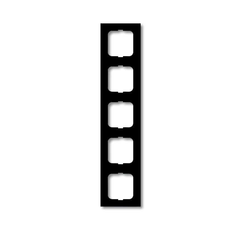 Busch-Jaeger afdekraam hoekig 5-voudig - future linear zwart mat (1725-885K)