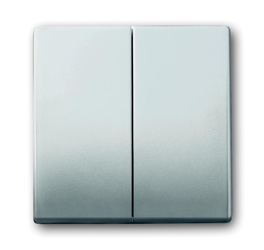 Busch-Jaeger tweedelige wip wissel/wisselschakelaar - Pure stainless steel (1785-866 BJ)