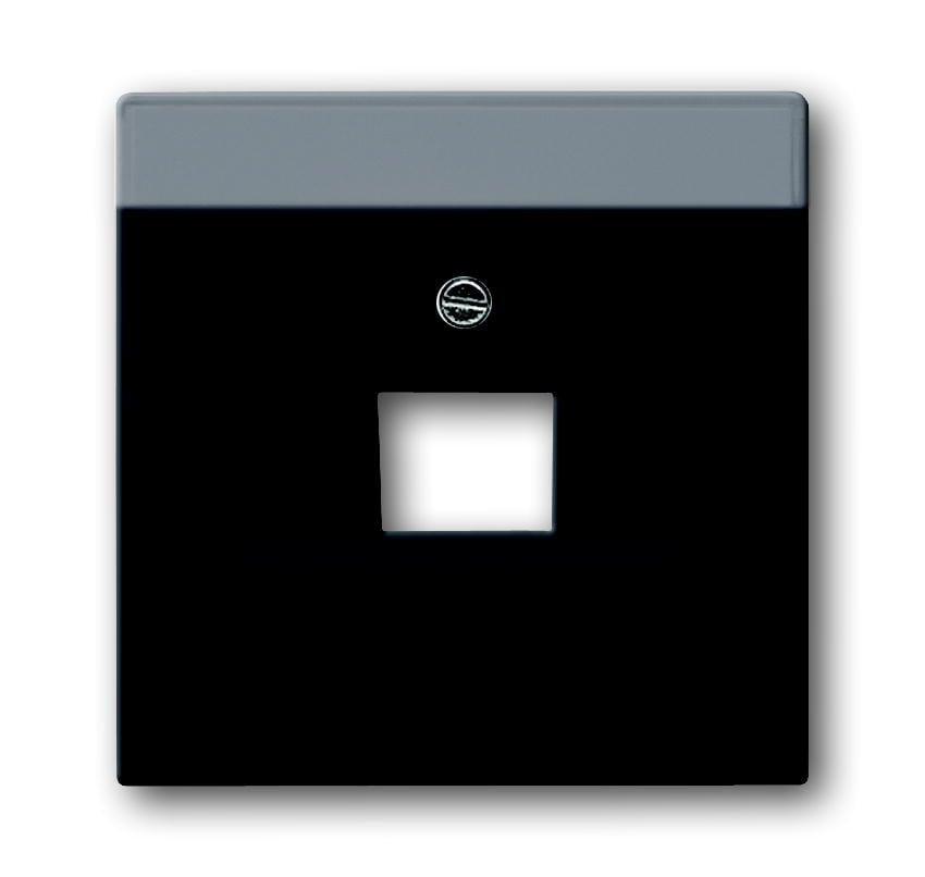 Busch-Jaeger centraalplaat voor datacontantdoos inbouw 1xRJ45 - future linear zwart mat (1803-885 BJ)