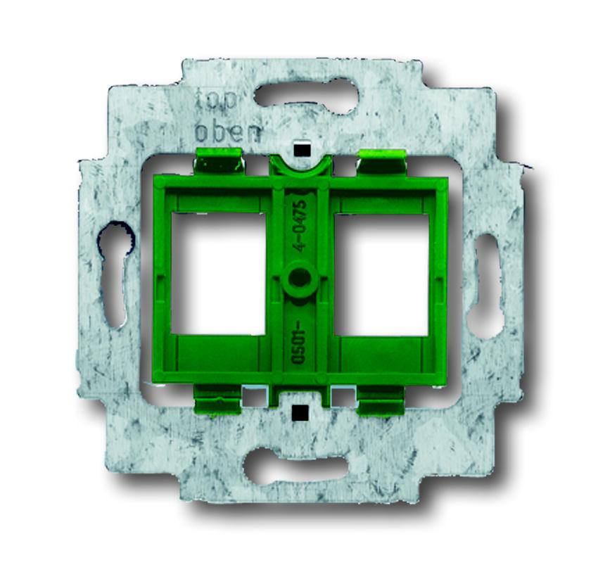 Busch-Jaeger draagring 2x met groene inzet voor Modular Jack connectors - axcent (1810)