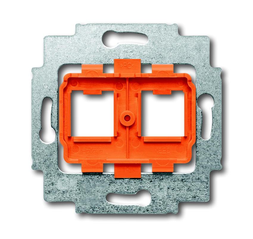 Busch-Jaeger draagring 2x met oranje inzet voor Modular Jack connectors - axcent (1816)