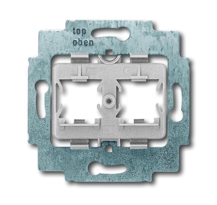 ABB Busch-Jaeger draagring 2x met grijs inzet voor Modular Jack connectors - axcent (1820)