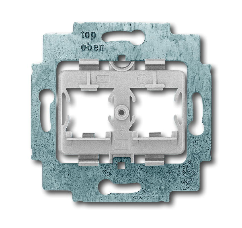Busch-Jaeger draagring 2x met grijs inzet voor Modular Jack connectors - axcent (1820)