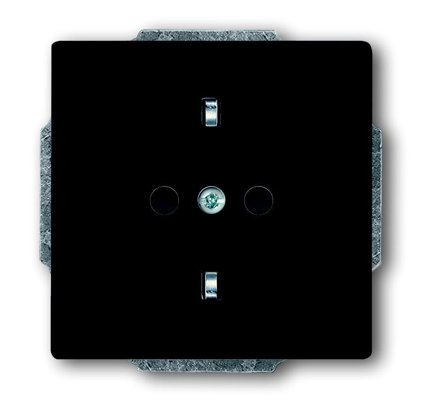 ABB Busch-Jaeger wandcontactdoos inbouw met randaarde 1-voudig - future linear antraciet (2011-0-3801)