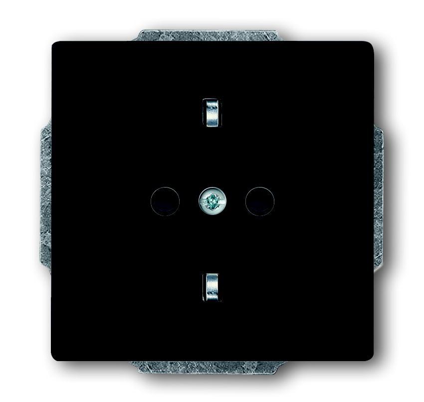 Busch-Jaeger wandcontactdoos inbouw met randaarde 1-voudig - future linear antraciet (2011-0-3801)