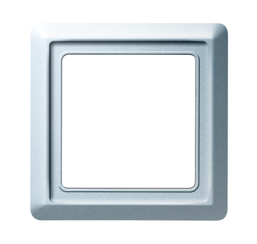 Busch-Jaeger afdekraam 1-voudig IP44 - All weather 44 aluminium (2101-33 BJ)