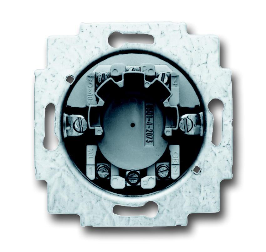 Busch-Jaeger jaloezieschakelaarsokkel inbouw 2P +slot (2723 USL-101)