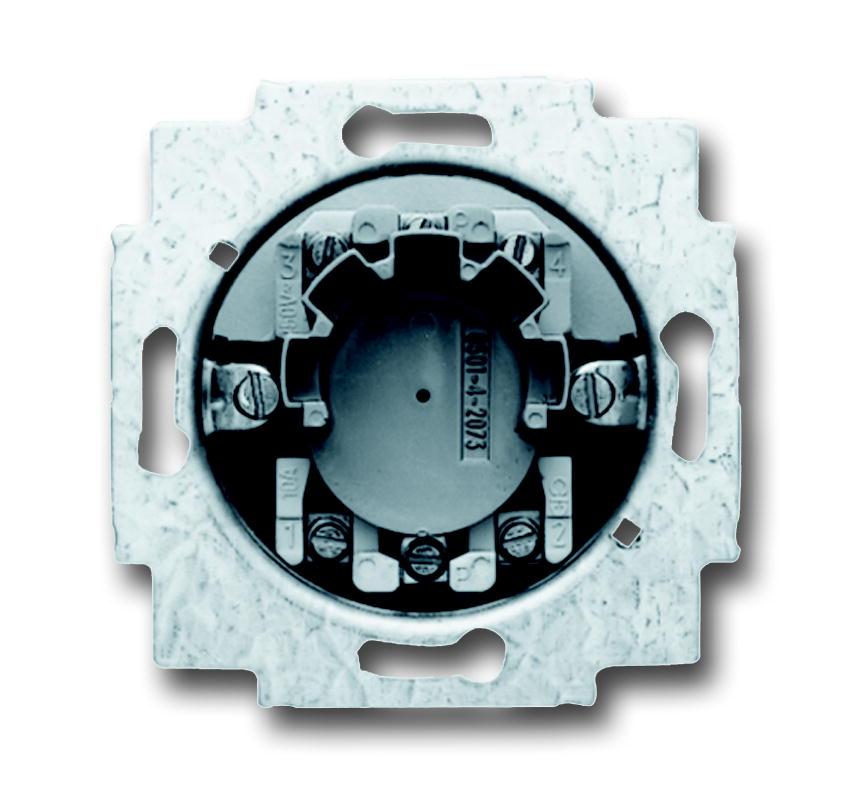 Busch-Jaeger jaloezieschakelaarsokkel inbouw 1P +slot (2723 USL-101)