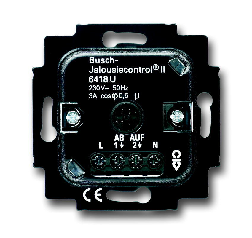 ABB Busch-Jaeger jaloezieschakelaar comfort met memory functie voor afdekking met drukknop (6418 U)