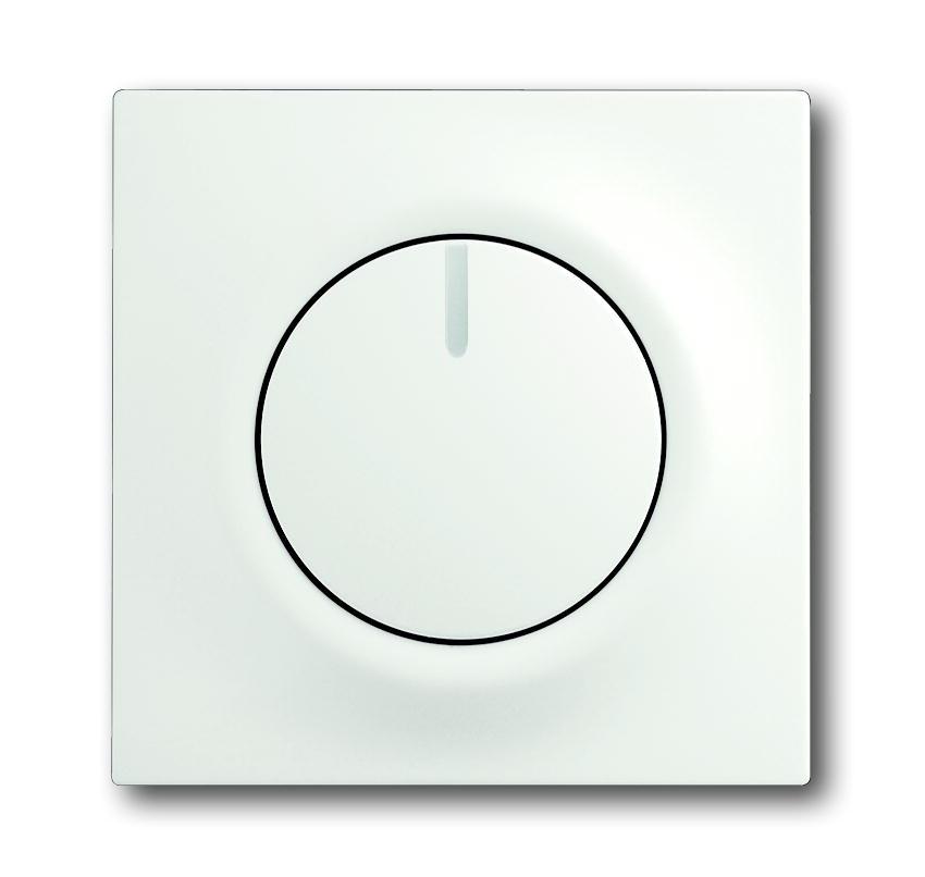 Busch-Jaeger centraalplaat voor draaidimmer - impuls studiowit mat (6540-774)