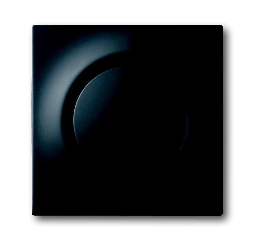 Busch-Jaeger centraalplaat voor draaidimmer - impuls zwart mat (6540-775)