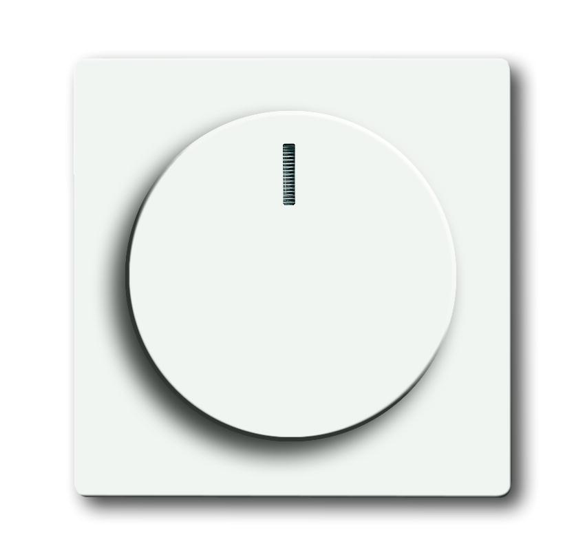 Busch-Jaeger centraalplaat voor dimmer met draaiknop - future linear studiowit mat (6540-884-102)