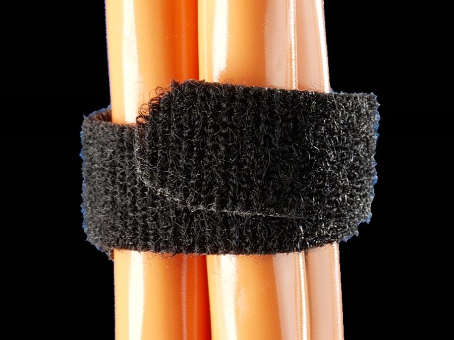 Rittal klittenband 16mm zwart rol 5m