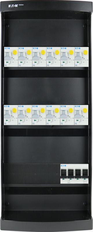EATON groepenkast 12 aardlekautomaten 3 fase 220x550 (BxH)