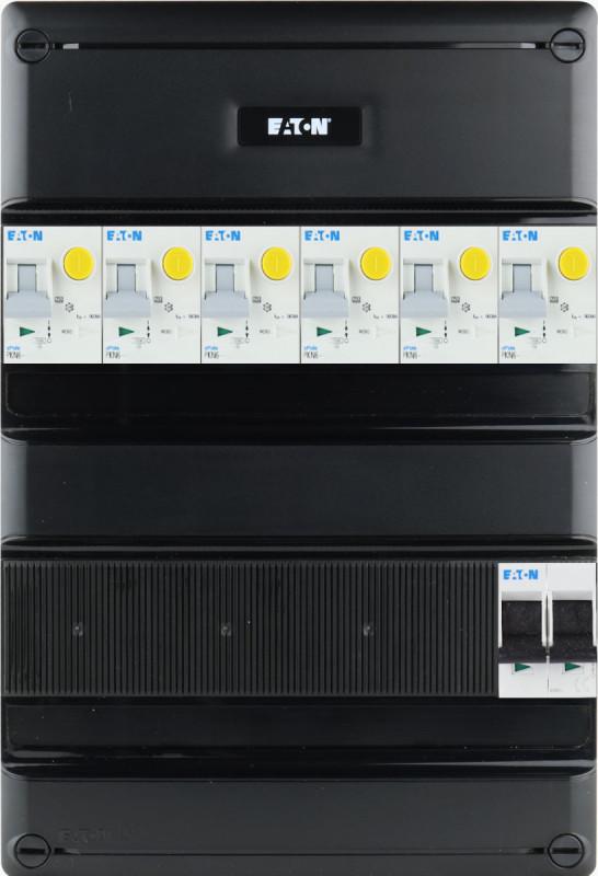 EATON groepenkast 6 aardlekautomaten 1 fase 220x330 (BxH)