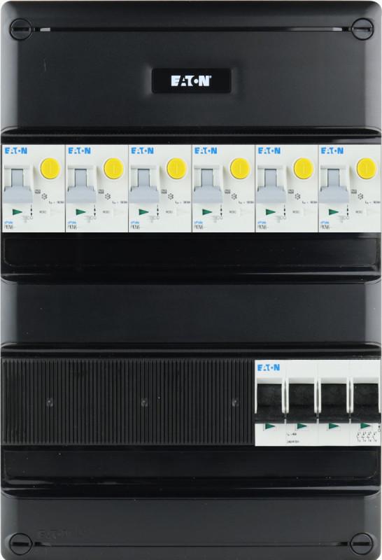 EATON groepenkast 6 aardlekautomaten 3 fase 220x330 (BxH)