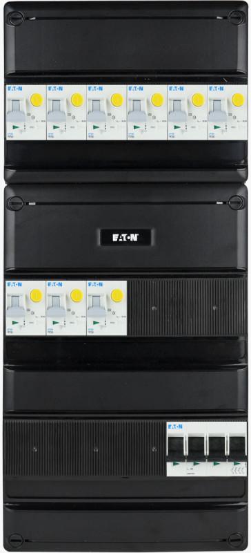 EATON groepenkast 9 aardlekautomaten 3 fase 220x495 (BxH)