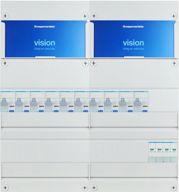 HAGER groepenkast 10 aardlekautomaten 3 fase 440x475 (BxH)