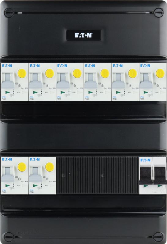 EATON groepenkast 8 aardlekautomaten 1 fase 220x330 (BxH)