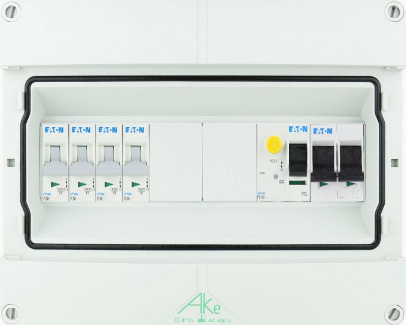 EATON waterdichte (IP55) groepenkast 4 groepen 1 fase 250x200 (BxH)