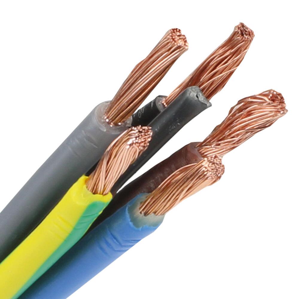 Pur kabel 5x4 (H07BQ-F) - geel rol 500 meter