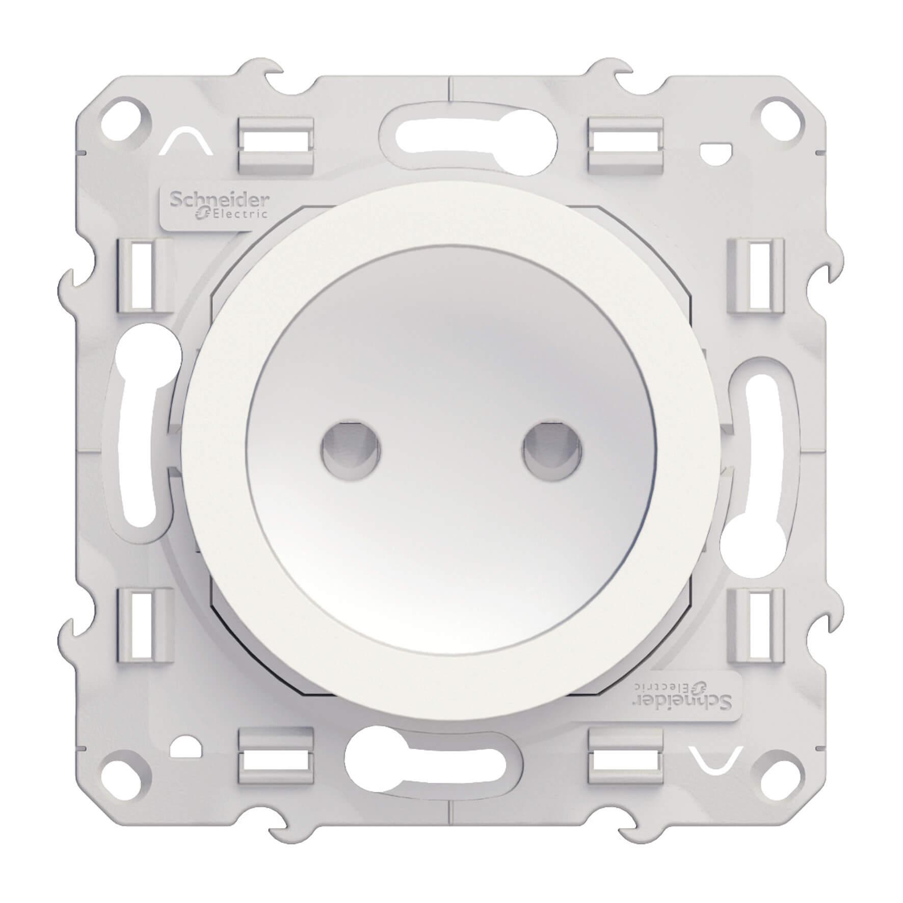 Schneider-Merten Odace wandcontactdoos zonder randaarde 16A - wit (S520033)