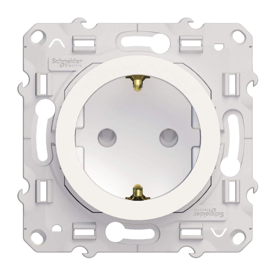 Schneider Electric Odace wandcontactdoos met randaarde 16A - wit (S520057)