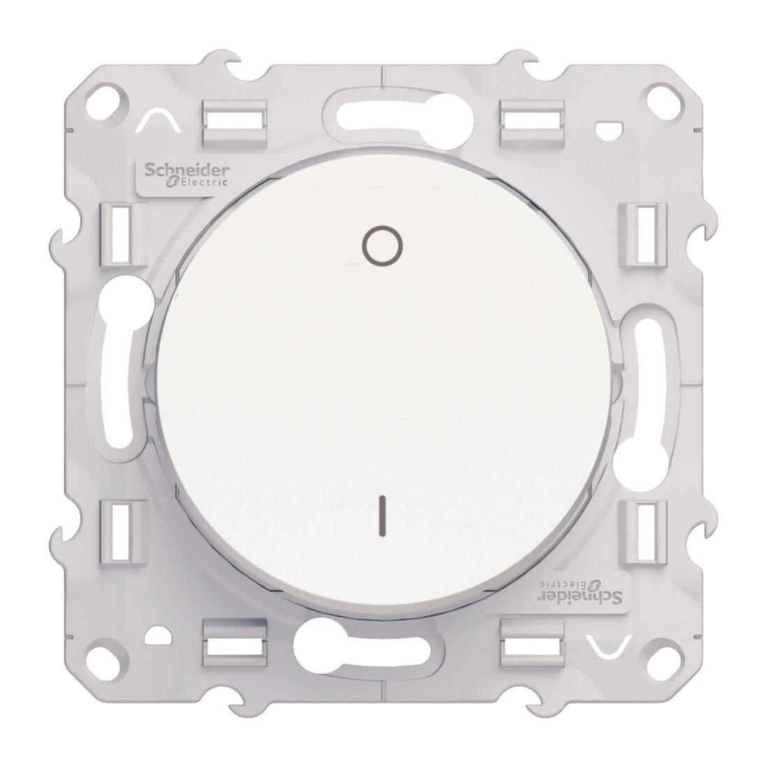 Schneider Electric Odace tweepolige schakelaar 16A - wit (S520262)