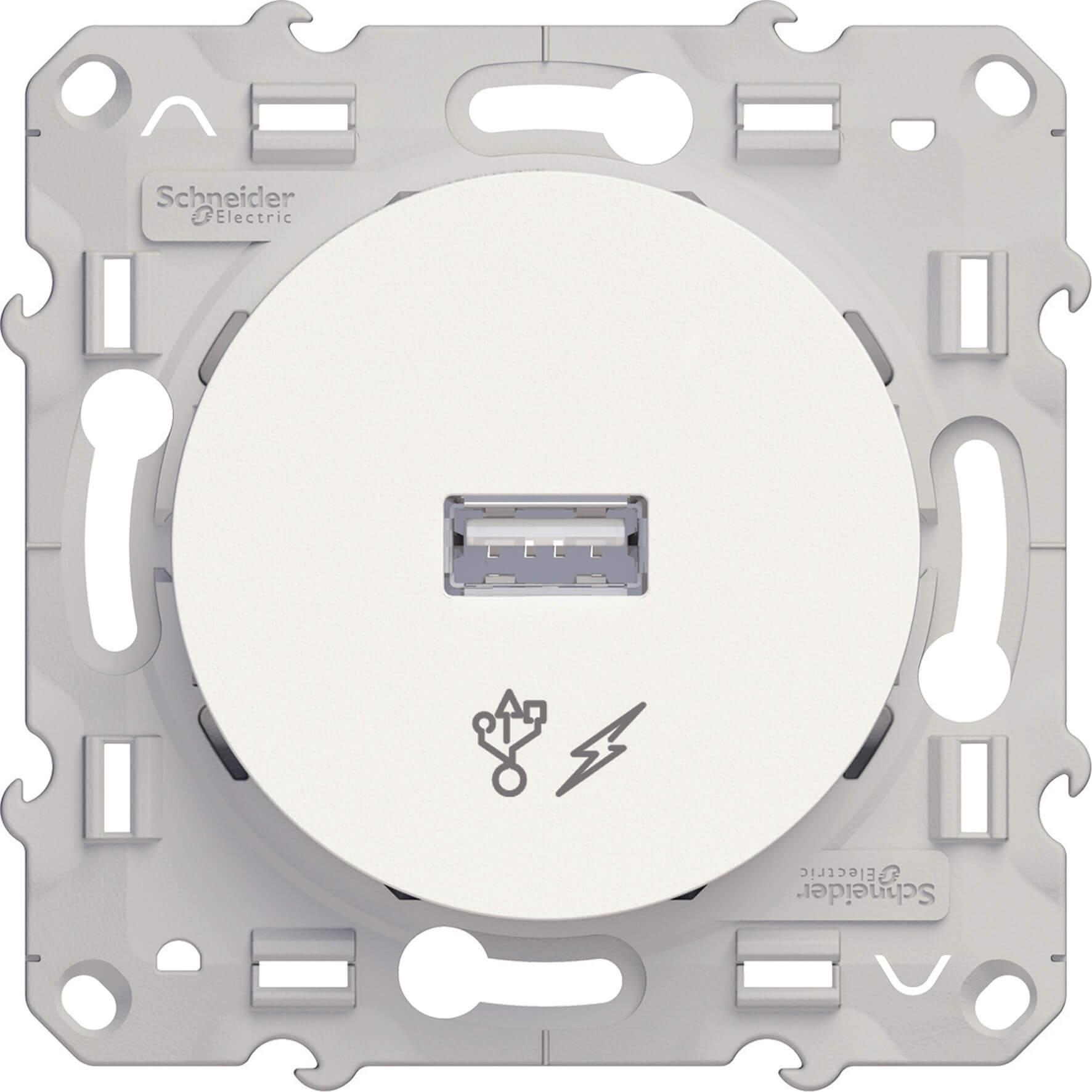 Schneider-Merten Odace USB lader - wit (S520408)