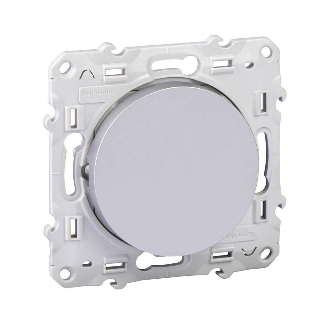 Schneider-Merten Odace wisselschakelaar 10A aluminium (S530203)