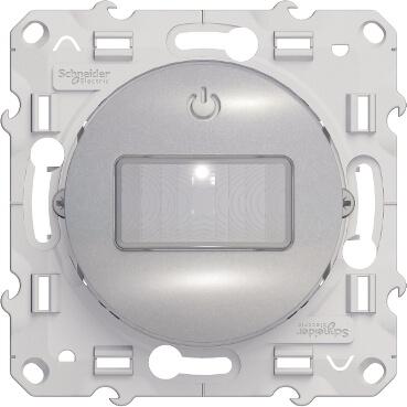 Schneider-Merten Odace bewegingsdetector 10A 3 draden - aluminium (S530525)