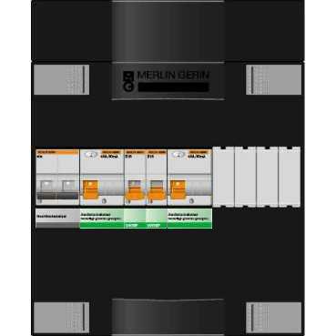 Schneider Electric groepenkast 2 groepen 220x270 (BxH) 1 fase