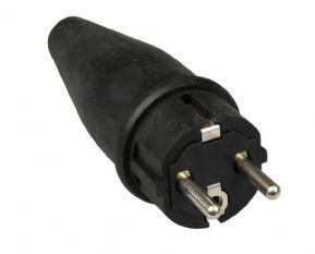 ABL rubber stekker + randaarde