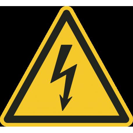 Elektriciteit gevaren sticker 10cm