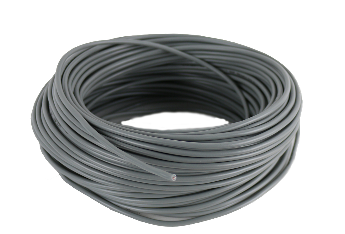 Thermostaatkabel 2x0,8 mm grijs - haspel 500 meter