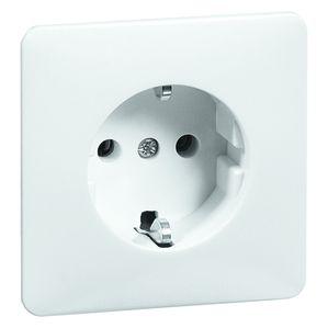 PEHA stopcontact met randaarde en kinderbeveiliging 1-voudig - standaard crème wit (D 80.6611 SI W)