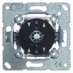 PEHA jaloezieschakelaar voor afdekking met draaiknop terugverend 1P met nulstand (H 604 T O.A.)