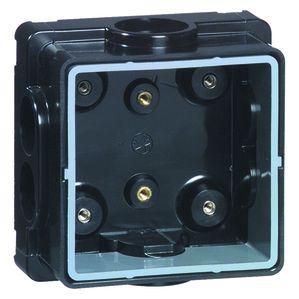 PEHA Peha Inbouw Alu Guss, 1-voudig, zwart verstelb. binnenraam, inbouwd. tot 90mm