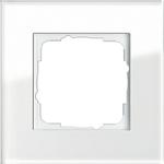 Glazen afdekraam wit