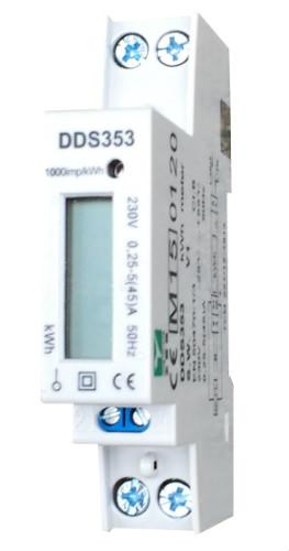 De digitale kWh meter is uit te lezen aan de hand van het digitale display.